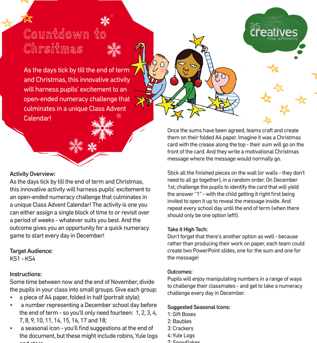 Classroom Resource: Countdown to Christmas (Numeracy)