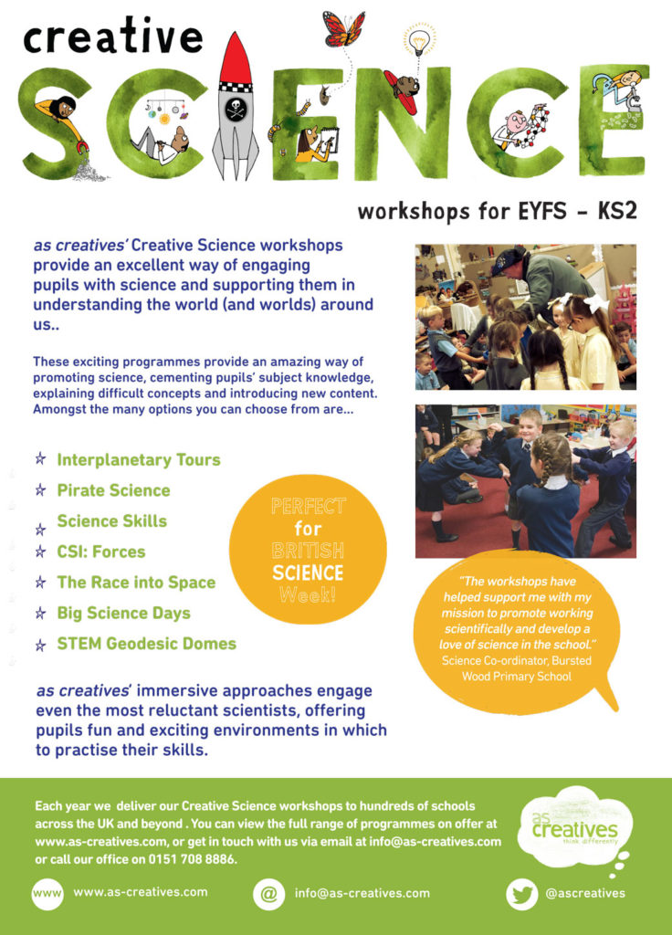 Creative Science Workshops for Primary Schools
